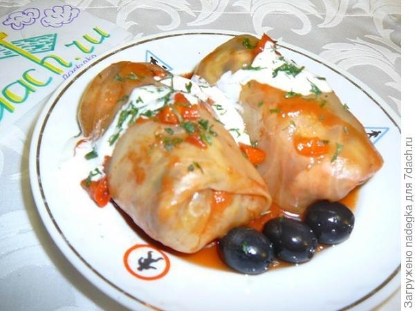 овощные голубцы с необычной начинкой