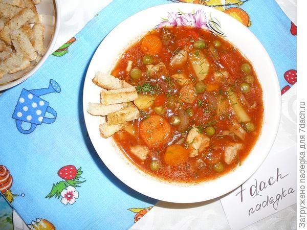 Запеченный томатный суп
