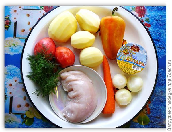 Сырный супчик с овощами