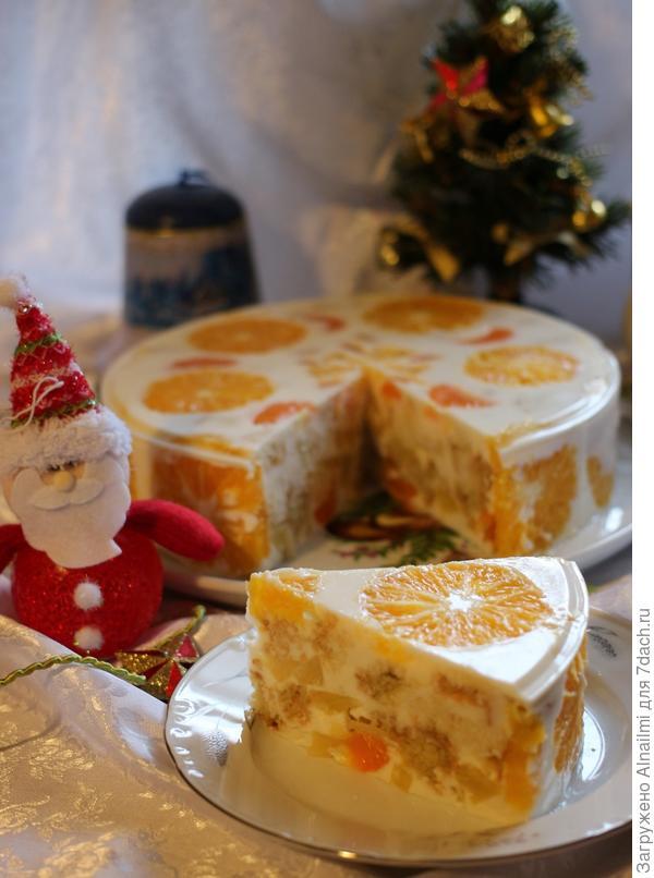 Торт домашний простой фруктовый