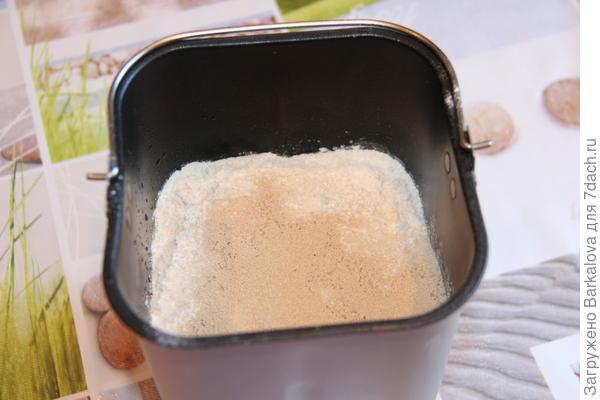 добавление сыпучих ингредиентов