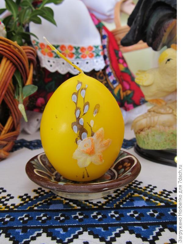 Свеча-яйцо