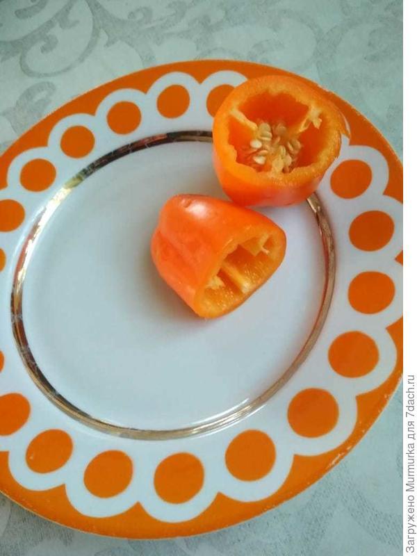 Перец сладкий 'Апельсин желтый' F1. Цветение и плоды