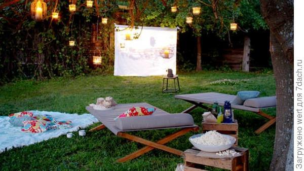 Кинотеатр в саду