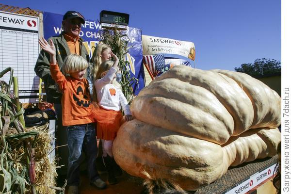 Самая большая тыква Калифорнии Гари Миллер