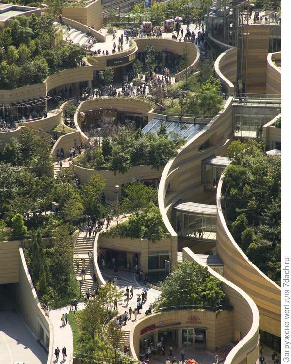 Осака парк на крыше в торговом центре