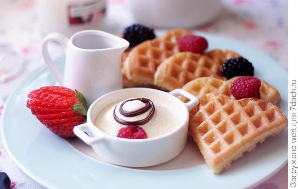 Завтрак: венские вафли