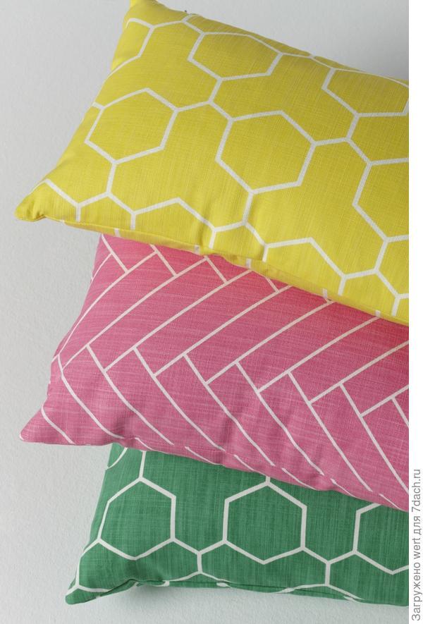 Дачный интерьер: подбираем текстиль (ретро подушки)