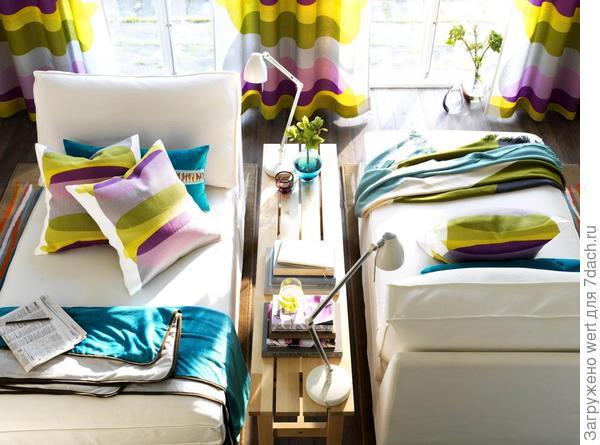 Дачный интерьер: подбираем текстиль (скандинавский минимализм)