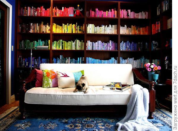 Радужная библиотека, радуга, декор и дизайн интерьера