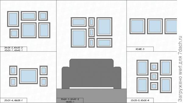 Как расположить фотографии на стене, идеи, советы, план.