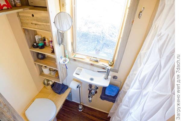 Интерьер маленькой ванной (крохотной)