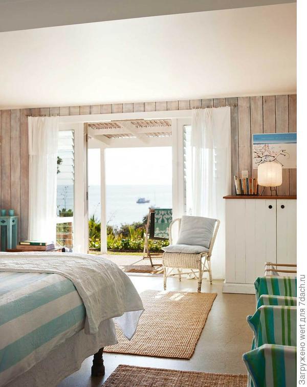 Спальня в пастельных тонах в Новой Зеландии