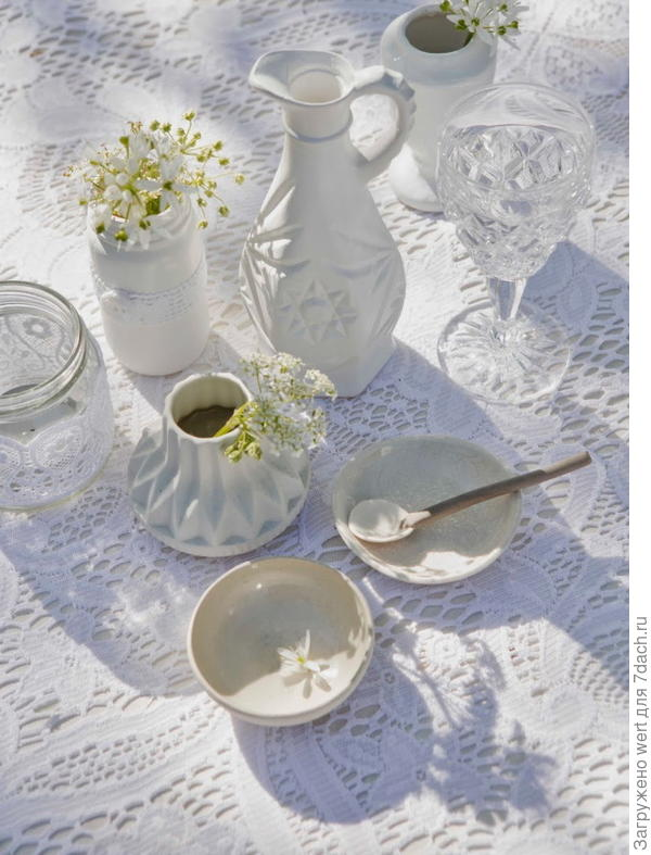 Декоративная идея для осеннего чаепития в саду