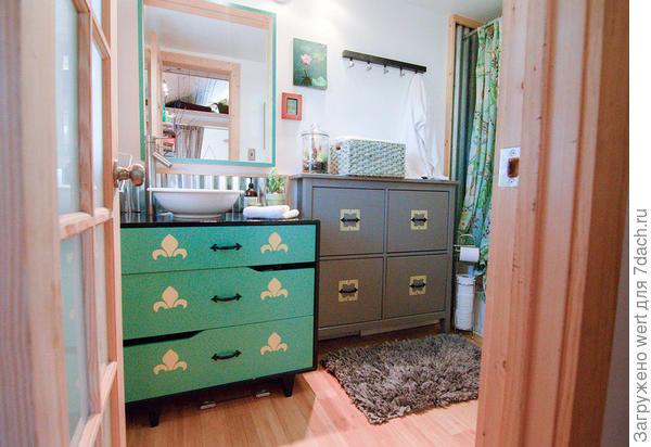 Ванная. Фото с сайта tinyhousetalk.com