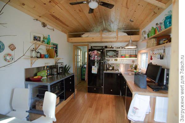 Кухня. Фото с сайта tinyhousetalk.com