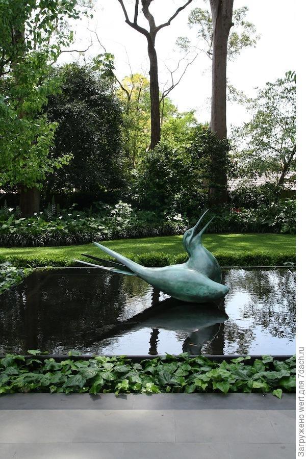 Ландшафтный дизайн в частном саду