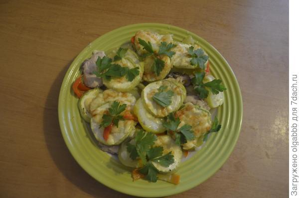 блюдо с кабачками