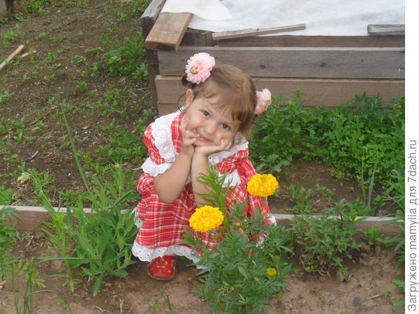 Лиза   с цветами