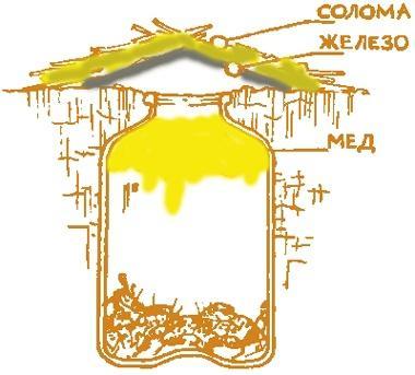 Медовая ловушка, схема с сайта otvetprost.com