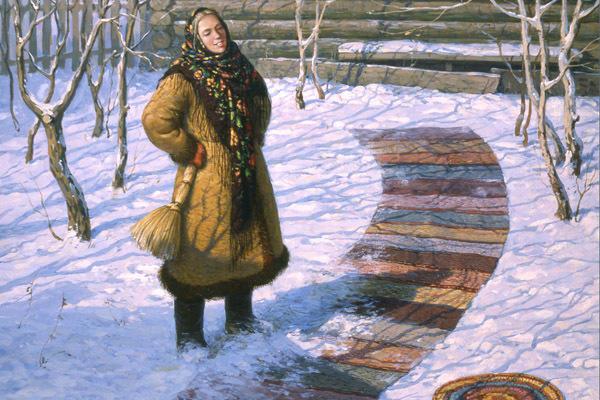 Традиция на Татьянин день расстилать у двери дома специальный половичок, фото с сайта nexplorer.ru