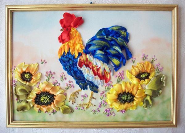 Вышивка атласными лентами, фото с сайта foto-basa.com