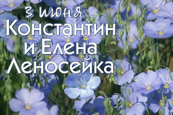 3 июня - Константин и Елена Самосейка