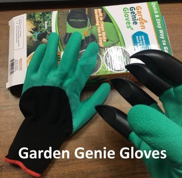 Садовые перчатки с когтями Garden Genie Gloves - 3 участника тестирования