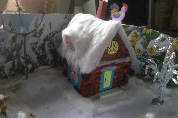 Новый год приходит ко всем, я и внучка решили смастерить елочку для зверюшек, которые живут в лесу.   Внучка сказала: «Ёлочка у меня будет в садике, а у лесных зайчиков, белочек и мышек нету наряженной елочки.» :((  Так мы и начали мастерить...