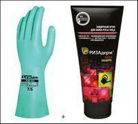 Перчатки + крем Защита