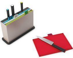 Набор разделочных досок с ножами Index™' серебристый