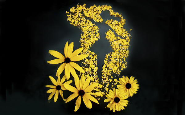 Цветы оставив на прощание, сказало лето: До свидания!