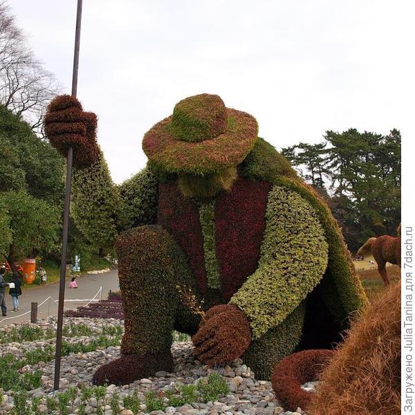 фестиваль скульптур из растений