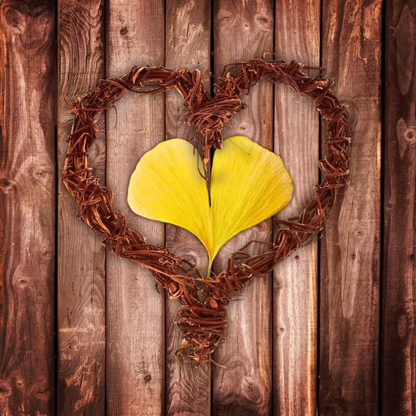 Очаровательный венок в форме сердца