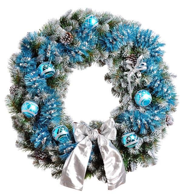 Серебристый, голубой  - холодные цвета как нельзя лучше соответствуют зимнему настроению