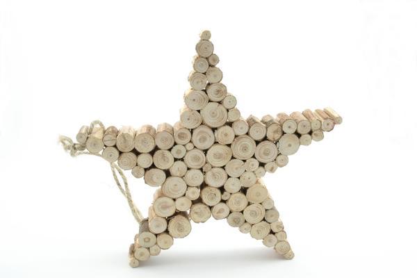 Необычная дровяная звезда