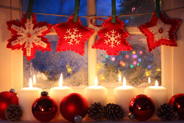 Новогодние украшения из фетра