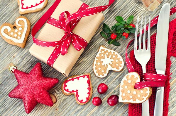Печенье как украшение новогоднего стола