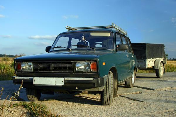 ВАЗ-2104 с прицепом