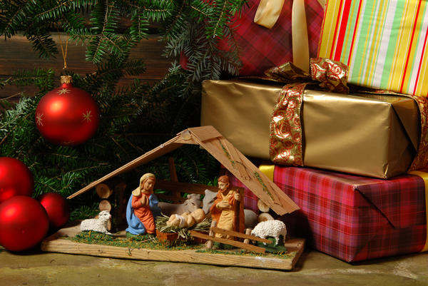 Изначально рождественский вертеп размещали только в храмах