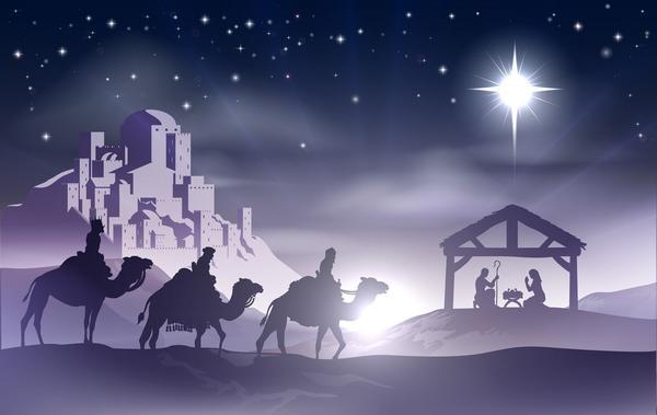 Путь волхвам указала Вифлиемская звезда, которая взошла в ночном небе