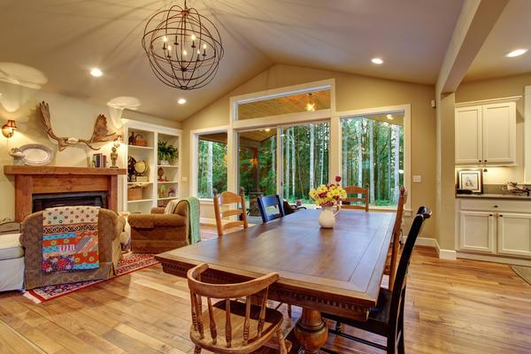 Для загородного дома существует принципиальная логическая схема планировки внутренних помещений