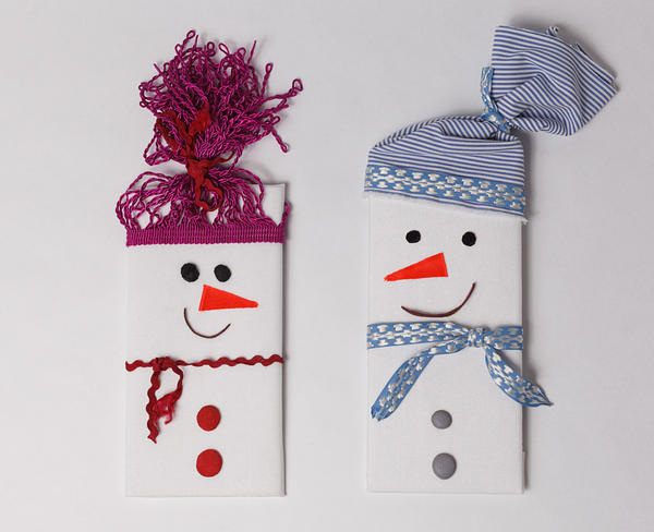 Снеговики - упаковка подарка