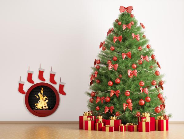 Крупные пышные банты будут просто шикарно смотреться на новогодней красавице