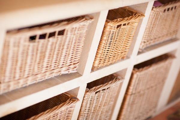 Плетеные корзинки-ящики