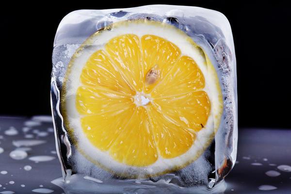 Лимонный лед