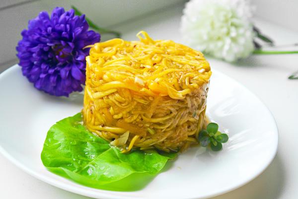 Постный салат из тыквы с хреном