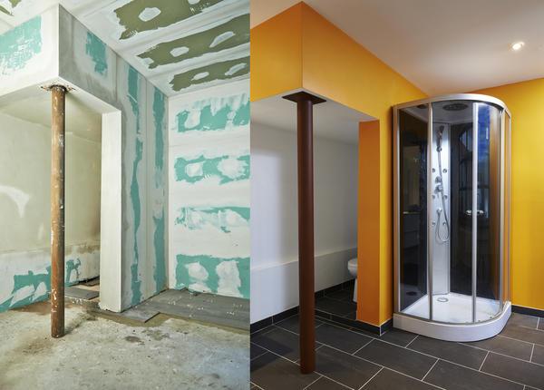 Гипсокартоном можно отделывать не только обычные помещения, но и кухни с ванными