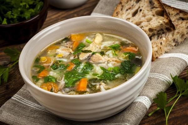 Рисовый суп с лопухом