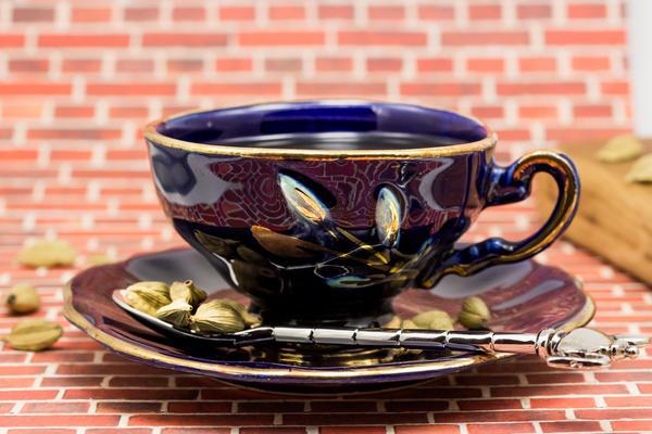 Кофе с кардамоном. Любуемся красивой чашкой